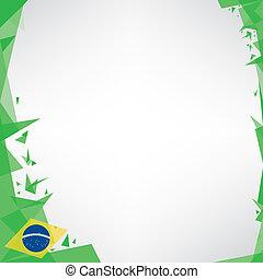 brazilie, origami, plein, achtergrond