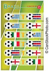 brazilie, voetbal, groep, d, toernooi, 2014