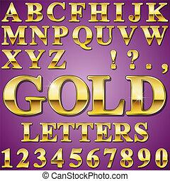 brieven, goud