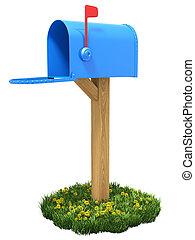 brievenbus, gras