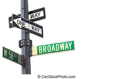 broadway, meldingsbord