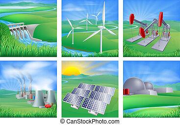 bronnen, energie, macht