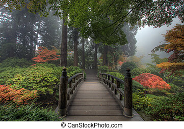 brug, japanse tuin
