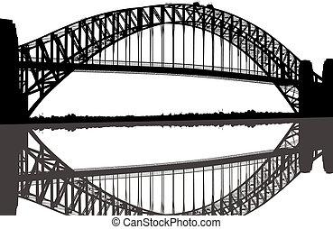 brug, silhouette, sydney haven