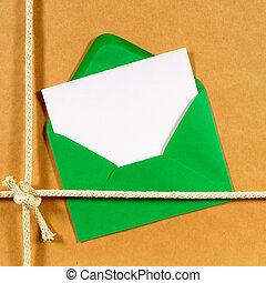 bruine , pakket, papier