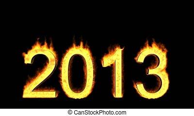 bu, jaar, nieuw, 2013, 2013, vrolijke