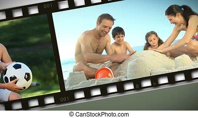 buiten, montage, families