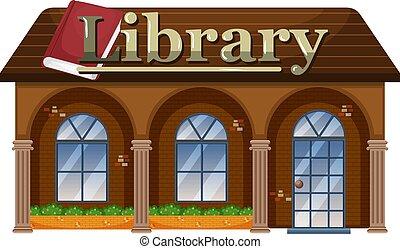 buitenkant, bibliotheek
