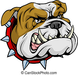 bulldog, betekenen, illustratie, mascotte