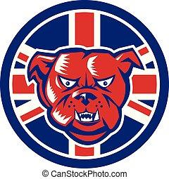 bulldog, brits, verbond vlag, dommekracht, pictogram