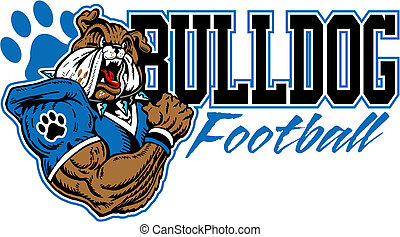 bulldog, voetbal, ontwerp, betekenen