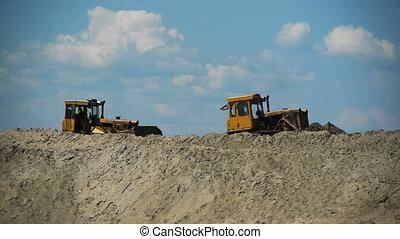 bulldozer, werken