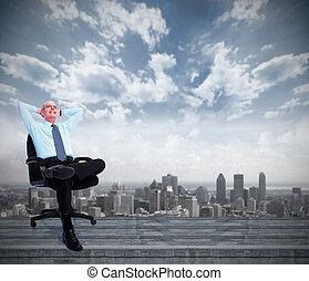 businessman., relaxen