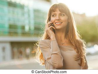 businesswoman, dres, verfijnd