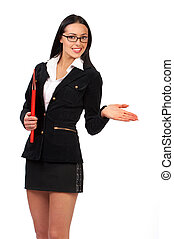 businesswoman, jonge, mooi