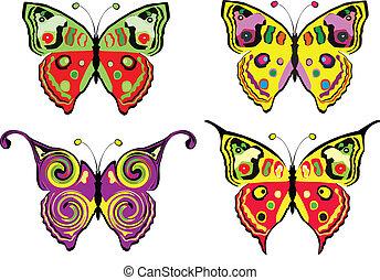 butterflys, set