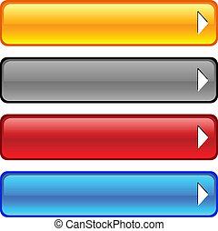 buttons., glanzend
