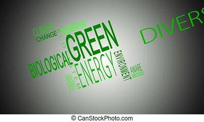buzzwords, groene, montage, energie