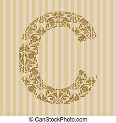 c, font., brief, floral