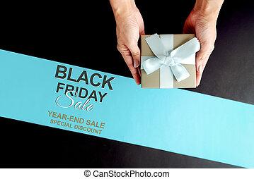 cadeau, luxe, online, doosje, verkoop, black , vrijdag, shoppen