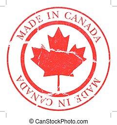 canada, decal, gemaakt
