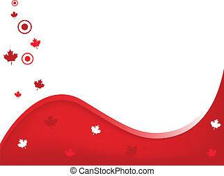 canada, golvend, achtergrond
