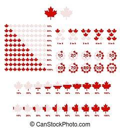 canada, infographic, set