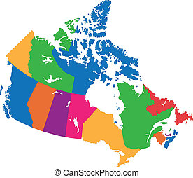 canada kaart