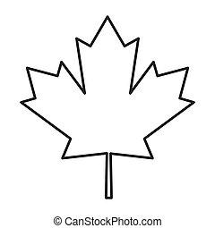 canada vlag, blad, esdoorn, pictogram