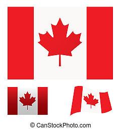 canada vlag, set