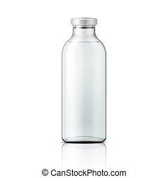 cap., fles, aluminium, medisch, glas