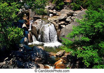 cascade, nationaal park, dalingen, yosemite