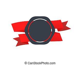 cassette, witte , badge, retro, rood