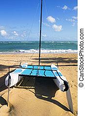 catamaran, strand