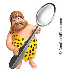 caveman, lepel