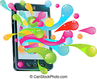 cel, bel, telefoon, gelei, concept