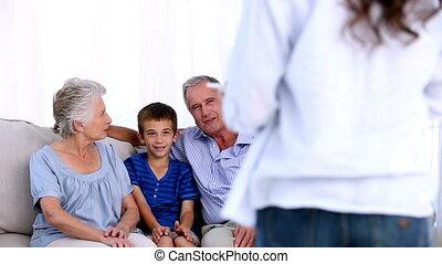 celebratin, ouders, grootouders