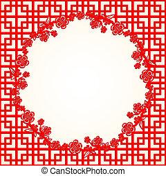 chinees, blossom , kers, achtergrond, jaar, nieuw