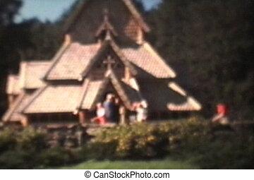 church-1975, oud, feestdagen, bezoeken