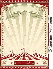 circus, retro, rood