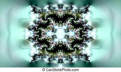 cirkel, abstract, model, kaleidoscope, animatie, groene achtergrond