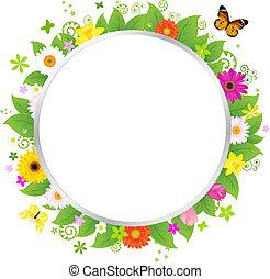 cirkel, bloemen