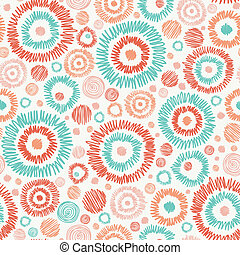 cirkels, doodle, textured, seamless, achtergrondmodel