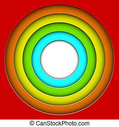 cirkels, kleurrijke, abstract, vector, achtergrond, 3d