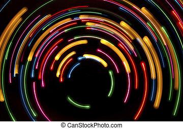 cirkels, licht, achtergrond