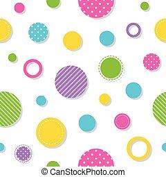 cirkels, model, kleurrijke