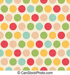 cirkels, punten, grunge, seamless, polka