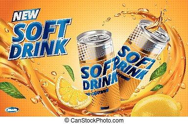 citroen drank, zacht, nieuw