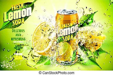 citroen soda, fris, advertentie