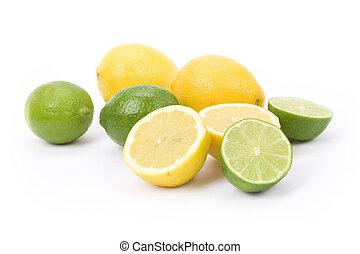 citroenen, kalk